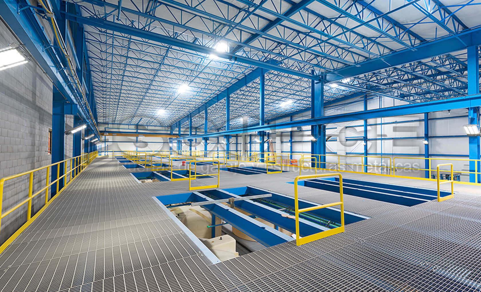 Estructuras met licas fachadas y cubiertas for Estructuras metalicas para tejados