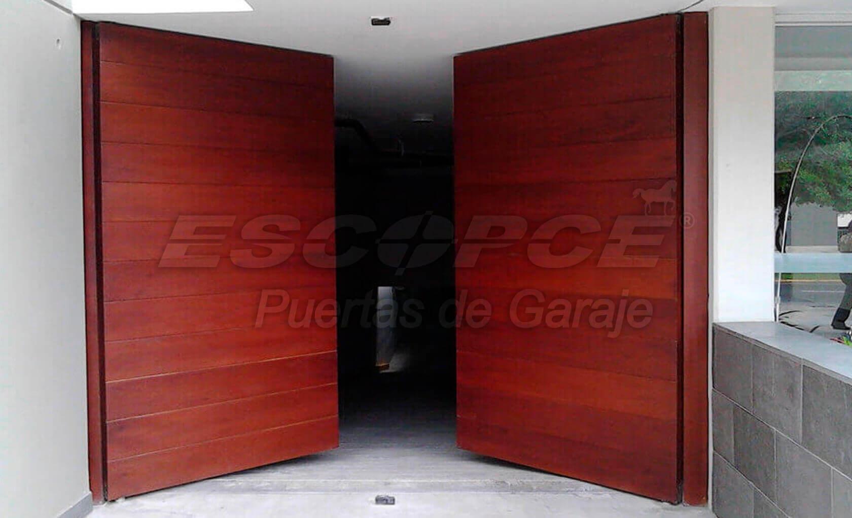 Puertas batientes puertas residenciales puertas - Puertas automaticas para cocheras ...